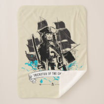 Jack Sparrow - Trickster of the Caribbean Sherpa Blanket
