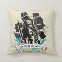 Jack Sparrow - Trickster of the Caribbean Throw Pillow