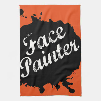 Jack Splat Orange Kitchen Towel