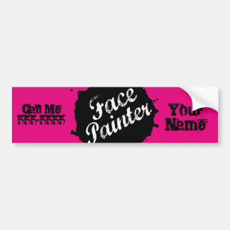 Jack Splat Pink Bumper Sticker