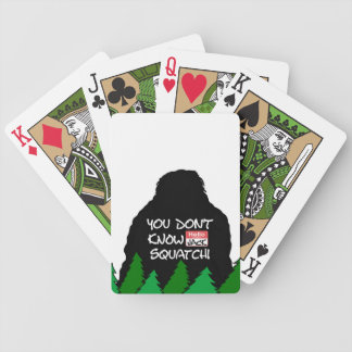 Jack Squatch Bicycle Playing Cards