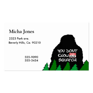Jack Squatch Double-Sided Standard Business Cards (Pack Of 100)