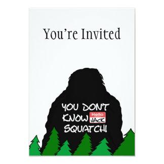 """Jack Squatch Invitación 5"""" X 7"""""""