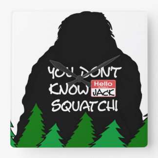 Jack Squatch Square Wall Clock