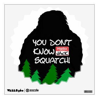 Jack Squatch Wall Decal