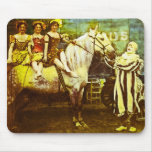 Jack the Clown and the Three Queens Vintage Circus Mouse Pad