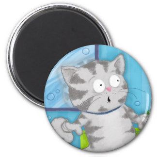 Jack the Kitten is Shocked! (Magnet) 2 Inch Round Magnet