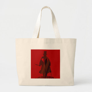Jack the Ripper Heart Large Tote Bag