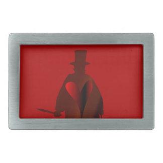 Jack the Ripper Heart Rectangular Belt Buckle