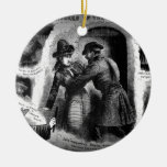 Jack the Ripper-Illustrated Police News-Winslow Double-Sided Ceramic Round Christmas Ornament