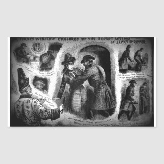 Jack the Ripper-Illustrated Police News-Winslow Rectangular Sticker