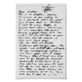 Jack The Ripper Letter Poster