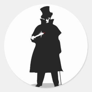 Jack the Ripper Pegatina Redonda