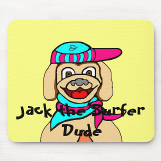Jack the Surfer Dude Mouse Pad