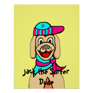 Jack the Surfer Dude Poster