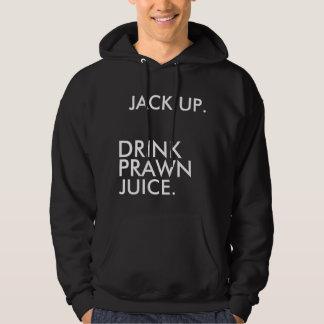 JACK UP., DRINK, JUICE., PRAWN HOODED PULLOVER