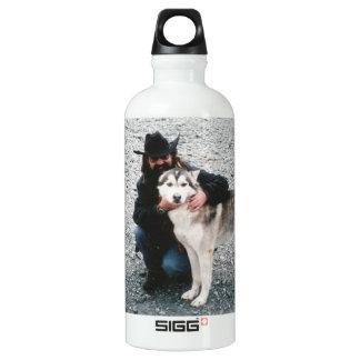 Jack with Husky Aluminum Water Bottle