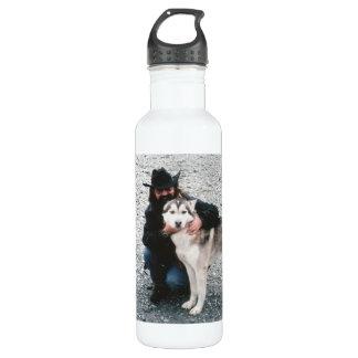 Jack with Husky Water Bottle