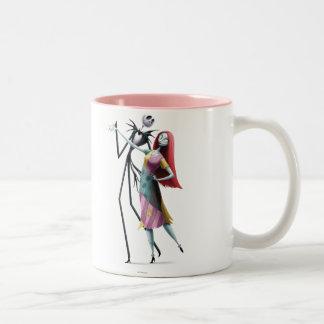 Jack y baile de Sally Taza De Café De Dos Colores