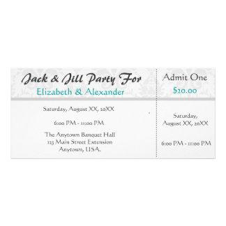 Jack y fiesta del estilo del boleto de la ducha de tarjeta publicitaria personalizada