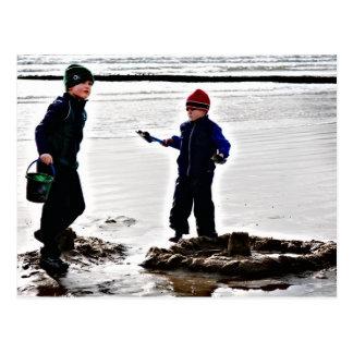Jack y Finn en la postal de la playa