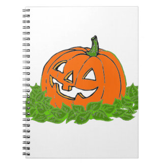 Jack y hojas libro de apuntes con espiral
