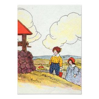 """Jack y Jill fueron encima de la colina Invitación 5"""" X 7"""""""