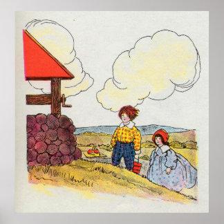 Jack y Jill fueron encima de la colina Poster