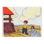 Jack y Jill fueron encima de la colina Tarjetas Postales