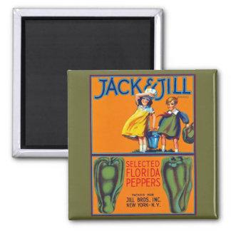 Jack y pimientas de Jill la Florida Iman Para Frigorífico
