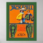Jack y pimientas de Jill la Florida Posters