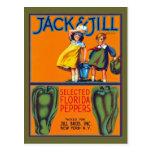 Jack y pimientas de Jill la Florida Tarjetas Postales