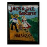 Jack y poster de la publicidad del vintage de las  tarjeta postal