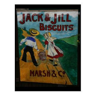 Jack y poster de la publicidad del vintage de las postal