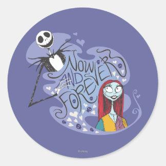 Jack y Sally - ahora y para siempre Pegatina Redonda