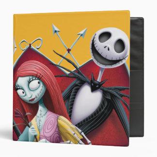 """Jack y Sally en corazón Carpeta 1 1/2"""""""
