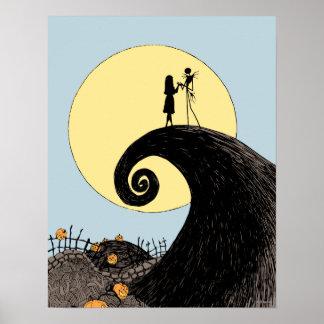Jack y Sally que llevan a cabo las manos debajo de Poster