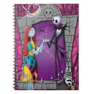 Jack y Sally que llevan a cabo las manos Libro De Apuntes Con Espiral