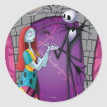Jack y Sally que llevan a cabo las manos Etiquetas Redondas