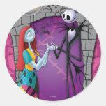 Jack y Sally que llevan a cabo las manos Pegatina Redonda