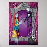 Jack y Sally que llevan a cabo las manos Posters