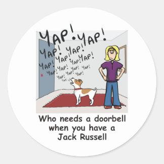 jack_y_slogan2 classic round sticker