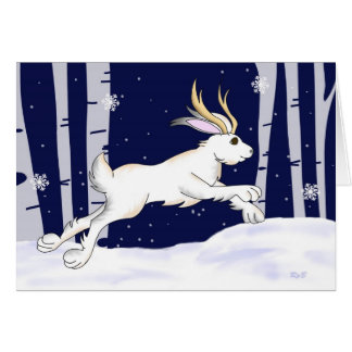 Jackalope Christmas Greeting Cards