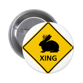 Jackalope Crossing Highway Sign 2 Inch Round Button