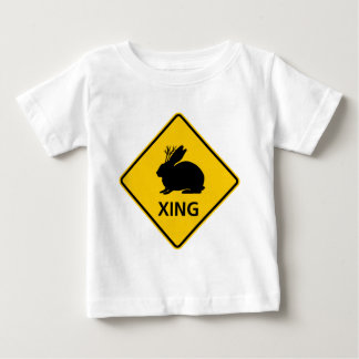 Jackalope Crossing Highway Sign Baby T-Shirt