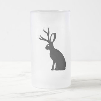 Jackalope Frosted Glass Beer Mug