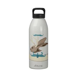 Jackalope Head Reusable Water Bottle