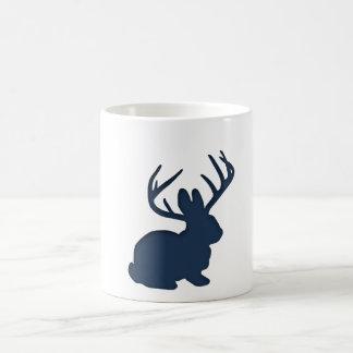 Jackalope Navy Blue Classic White Coffee Mug
