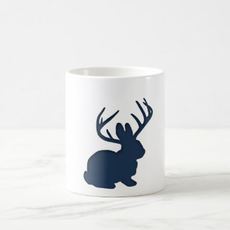 Jackalope Navy Blue Coffee Mug