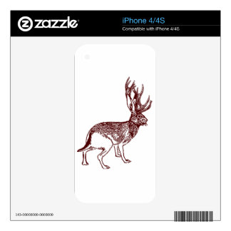 Jackalope Decal For The iPhone 4